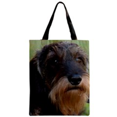 Wirehaired Dachshund Zipper Classic Tote Bags