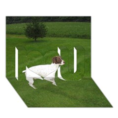 German Shorthair Pointer Full I Love You 3D Greeting Card (7x5)