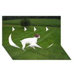 German Shorthair Pointer Full Twin Hearts 3D Greeting Card (8x4)