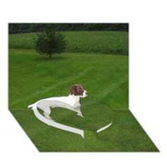 German Shorthair Pointer Full Heart Bottom 3D Greeting Card (7x5)