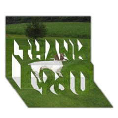 German Shorthair Pointer Full THANK YOU 3D Greeting Card (7x5)