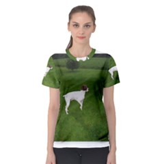 German Shorthair Pointer Full Women s Sport Mesh Tees