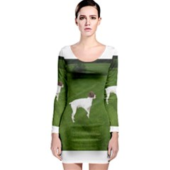 German Shorthair Pointer Full Long Sleeve Bodycon Dresses
