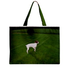 German Shorthair Pointer Full Zipper Tiny Tote Bags