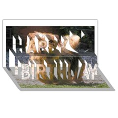 Norfolk Terrier Full Happy Birthday 3D Greeting Card (8x4)