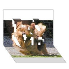 Norfolk Terrier Full LOVE 3D Greeting Card (7x5)