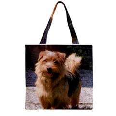 Norfolk Terrier Full Zipper Grocery Tote Bags