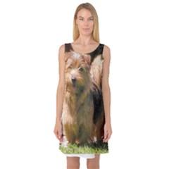 Norfolk Terrier Full Sleeveless Satin Nightdresses
