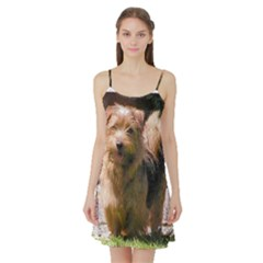 Norfolk Terrier Full Satin Night Slip
