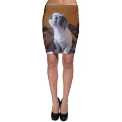 Shih Tzu Sitting Bodycon Skirts