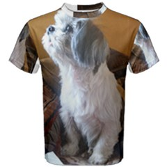 Shih Tzu Sitting Men s Cotton Tees