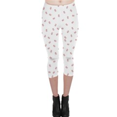 Officially Sexy Os Collection Red & White Capri Leggings