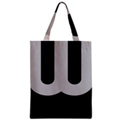 Black Grey Abstract  Zipper Classic Tote Bags