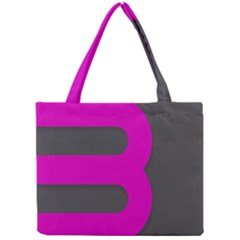 Pink Grey Abstract  Tiny Tote Bags