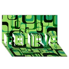 Retro Pattern 1971 Green Believe 3d Greeting Card (8x4)