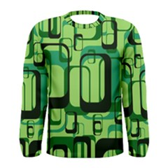 Retro Pattern 1971 Green Men s Long Sleeve T-shirts