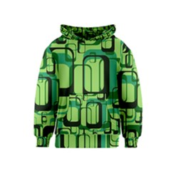 Retro Pattern 1971 Green Kid s Pullover Hoodies
