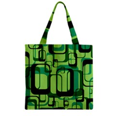 Retro Pattern 1971 Green Zipper Grocery Tote Bags