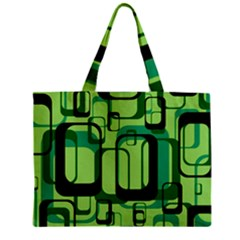 Retro Pattern 1971 Green Zipper Tiny Tote Bags