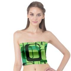 Retro Pattern 1971 Green Women s Tube Tops