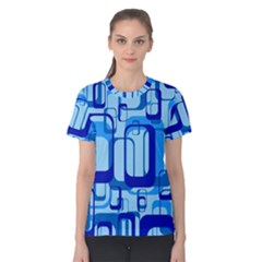 Retro Pattern 1971 Blue Women s Cotton Tees