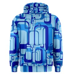 Retro Pattern 1971 Blue Men s Pullover Hoodies