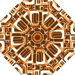 Retro Pattern 1971 Orange Hook Handle Umbrellas (Medium)
