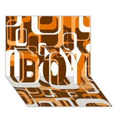 Retro Pattern 1971 Orange Boy 3d Greeting Card (7x5)