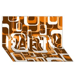 Retro Pattern 1971 Orange Party 3d Greeting Card (8x4)