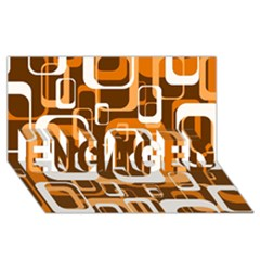 Retro Pattern 1971 Orange ENGAGED 3D Greeting Card (8x4)