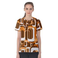 Retro Pattern 1971 Orange Women s Cotton Tees
