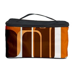 Retro Pattern 1971 Orange Cosmetic Storage Cases