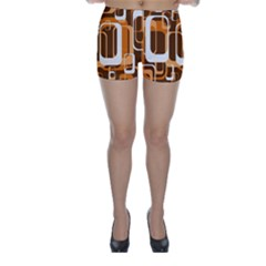 Retro Pattern 1971 Orange Skinny Shorts