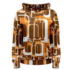 Retro Pattern 1971 Orange Women s Pullover Hoodies