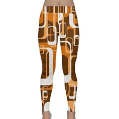 Retro Pattern 1971 Orange Yoga Leggings