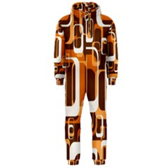 Retro Pattern 1971 Orange Hooded Jumpsuit (Men)