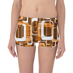 Retro Pattern 1971 Orange Reversible Boyleg Bikini Bottoms