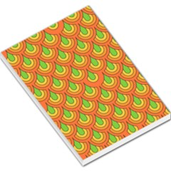 70s Green Orange Pattern Large Memo Pads