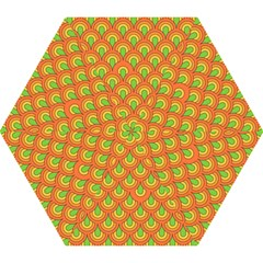 70s Green Orange Pattern Mini Folding Umbrellas