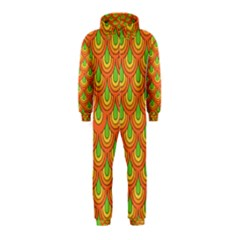 70s Green Orange Pattern Hooded Jumpsuit (Kids)