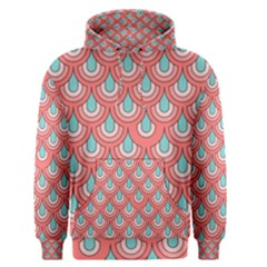 70s Peach Aqua Pattern Men s Pullover Hoodies