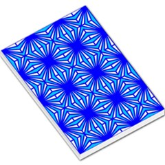 Retro Blue Pattern Large Memo Pads