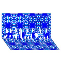 Retro Blue Pattern #1 MOM 3D Greeting Cards (8x4)