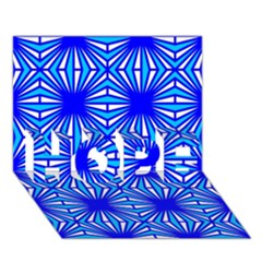 Retro Blue Pattern Hope 3d Greeting Card (7x5)