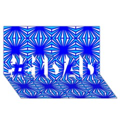 Retro Blue Pattern #1 DAD 3D Greeting Card (8x4)