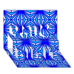Retro Blue Pattern You Did It 3D Greeting Card (7x5)
