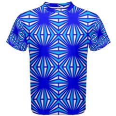 Retro Blue Pattern Men s Cotton Tees