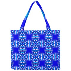 Retro Blue Pattern Tiny Tote Bags