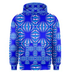 Retro Blue Pattern Men s Pullover Hoodies