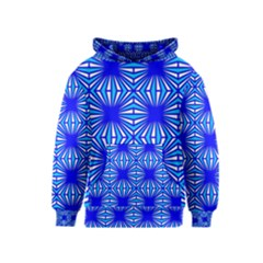 Retro Blue Pattern Kid s Pullover Hoodies